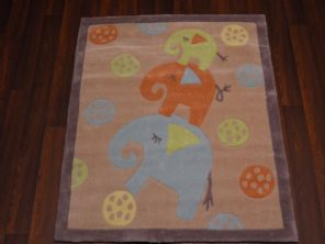 MODERN SALE PRICES KIDS THICK ELEPHANT RUGS 8OX100CM BLUE/BEIGE/GREEN/TERRA NEW